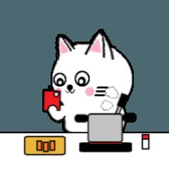 [LINEスタンプ] 白いねこ2