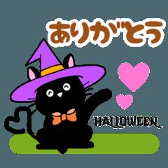 しっぽがハートの黒猫ちゃん☆ハロウィン