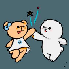 [LINEスタンプ] なかよし! あやなちゃんとふぁんふぁん (1)