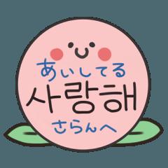 毎日♡韓国語セット(ハングル+日本語訳)