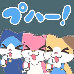 宝石猫の三匹 夏編