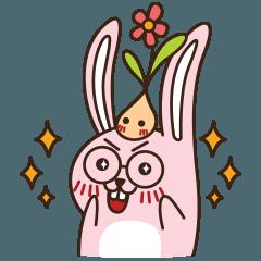 [LINEスタンプ] はきはきしたウサギ (1)