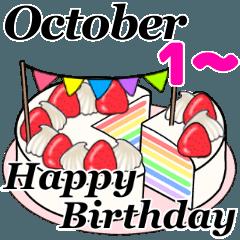 10月1日~10月16日のお誕生日ケーキ