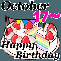 10月17日~10月31日のお誕生日ケーキ