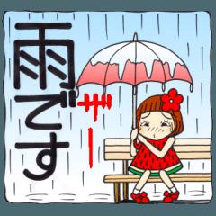 ひま子ちゃん155雨・大雨・台風編