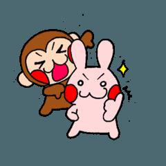 ウサギとおサル②