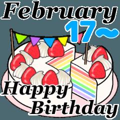 2月17日~2月29日のお誕生日ケーキ