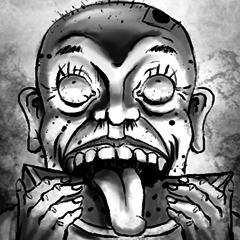 幽霊と恐ろしい顔