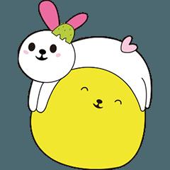 ハッピーウサギと中秋節