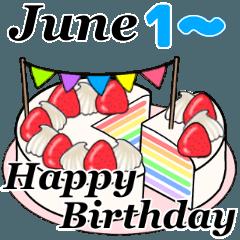 6月1日~6月16日のお誕生日ケーキ