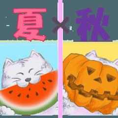福ちゃんの夏~秋スタンプ