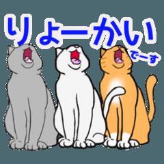 [LINEスタンプ] 色んな猫のだらだらな毎日 夏秋