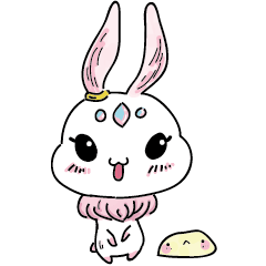 ふわふわ-ウサギ(月の兎)