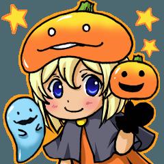 ミミとハロウィンのかぼちゃ帽子