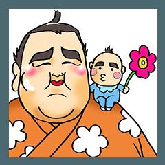 [LINEスタンプ] 力士がよくつかうスタンプ (1)