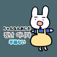 おしゃれうさぎの韓国語スタンプ