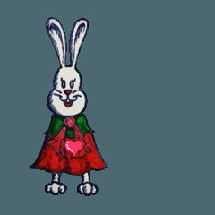 キュートなウサギのメアリーちゃん