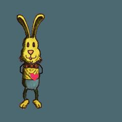 幸せを呼ぶ黄色いウサギ