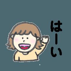 髪の短い女の子2