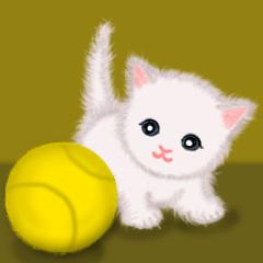 [LINEスタンプ] よちよち子猫 短い言葉の画像(メイン)
