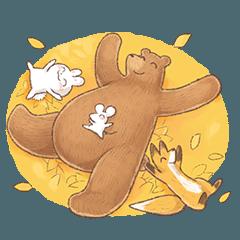 秋の!包容力のあるクマ