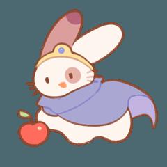 ウサギ勇者 & リンゴ