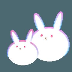 グラデーションウサギ