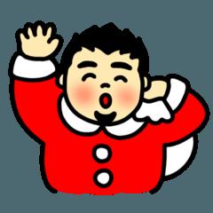 [LINEスタンプ] ぽちゃ雄の秋冬 (1)