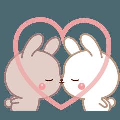 ラブラブ動く☆好きがいっぱい仲良しウサギ
