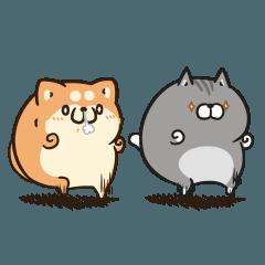 ボンレス犬とボンレス猫 む~ぶ【敬語】