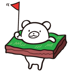 あなグマくん by ゴルフのたすき