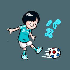 サッカー大好き女子
