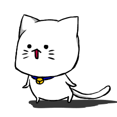 可愛い白猫。