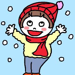 とんこちゃんのほっこり冬バージョン
