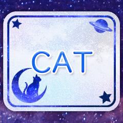 [LINEスタンプ] Galaxy Cat.