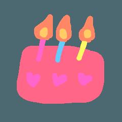 誕生日おめでとう用スタンプ