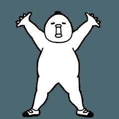 [LINEスタンプ] 動きまくる!愛すべきデブ 9