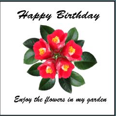 誕生日の祝いに花を!