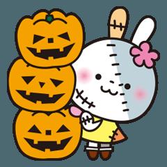 ハロウィン2★花うさちゃん[英語]