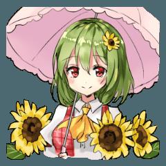 幽香とお花スタンプ(東方Project)
