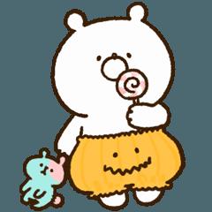 【手描き】ガーリーくまさん(秋ハロウィン)