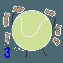テニスボールくんスタンプ3