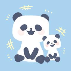ふわりパンダ(セリフなし)