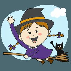 黒ネコぼん太のハロウィンパーティー