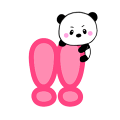 Lサイズ文字&子パンダ夢夢【むーむー】