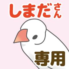 【しまだ専用】文鳥さんスタンプ