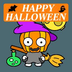 ハッピーハロウィン かぼちゃ君スタンプ