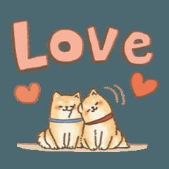 可愛い柴犬のでか文字スタンプ~英語ver~2