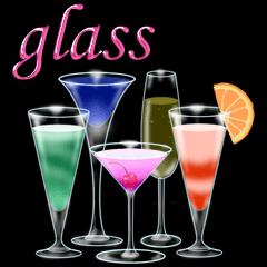 [LINEスタンプ] グラスに添えて