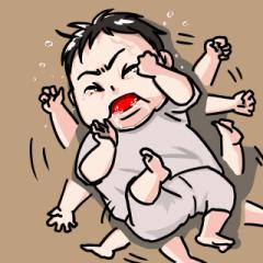 おてんばな赤ちゃん